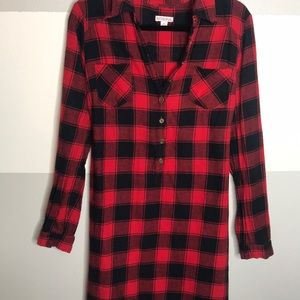 Flannel Tunic Dress